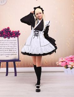 Cotton Ruffles Scalloped-Edge Neck Long Sleeves Cute Lolita One-Piece - Milanoo.com