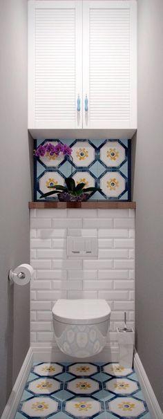 How to Create Bathroom that Fit Best Toilet Closet - Home of Pondo - Home Design Budget Bathroom, Bathroom Wall Decor, Bathroom Interior, Bathroom Ideas, Mirror Bathroom, Bathroom Makeovers, Remodel Bathroom, Simple Bathroom, Bathroom Cabinets