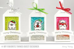 Handmade tags from Amy Yang featuring products from My Favorite Things #mftstamps