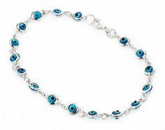 Handmade Evil Eye Bracelet With Blue Color Evil by OwlDesigns1996, $24.99