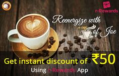 Re-energize with a cup of Joe @ #TheChocolateRoom #Kondapur. r-Rewards is here to make your experience even sweeter. Download r-Rewards app and get instant discount of Rs. 50 on your bill.  Additionally, you will get rewarded with points every time you dine in using r-Rewards app. Download r-Rewards app now http://bit.ly/r-Rewards_Androidapp or http://bit.ly/r-Rewards_iOS.