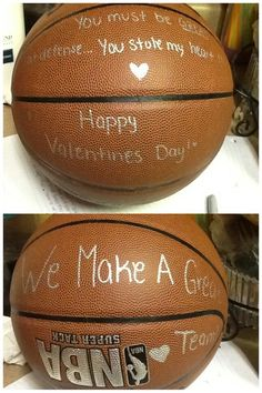 My boyfriend loves basketball so, for Valentine's Day, I made him this simpl… … – presents for boyfriend birthday Valentine Love, Cute Valentines Day Ideas, Valentines Day For Boyfriend, Birthday Present For Boyfriend, Christmas Gifts For Boyfriend, Valentines Gifts For Him, Gifts For Your Boyfriend, Boyfriend Ideas, Kids Valentines