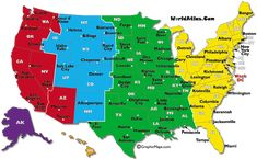 7 Best maps of USA time zone images | Time zone map, Time ...