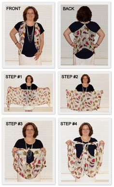 Monica with kikaPaprika Blog: How to Tie a Scarf Into a Vest (2013 version)
