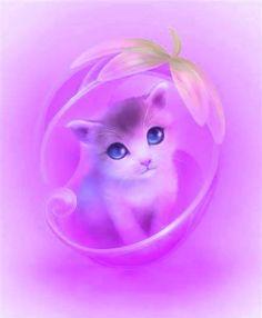 ♥ Cute Fantasy Creatures, Cute Creatures, Super Cute Animals, Cute Little Animals, Cute Animal Drawings, Kawaii Drawings, Cute Wallpaper Backgrounds, Cute Wallpapers, Mew Pokemon Card