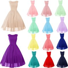 STOCK-New-Mini-short-Bridesmaid-Cocktail-Prom-Party-Ball-Evening-dress-Size6-18