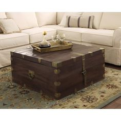 Home Decorators Collection Langston Dark Caffe Built-In Storage Coffee Table- 38x389690800110 - The Home Depot
