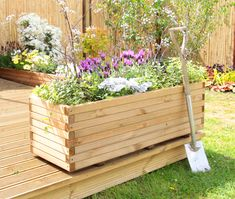 Pine Raised Trough Planter 99 is part of Trough planters This large planter will allow you to create a completely self contained flower bed It has been constructed from treated pine, whi - Wooden Trough Planters, Large Garden Planters, Garden Troughs, Stone Planters, Flower Planters, Diy Planters, Garden Boxes, Planter Boxes, Planter Ideas