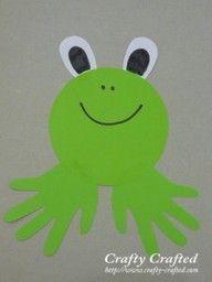 Handprint frog,  Go To www.likegossip.com to get more Gossip News!