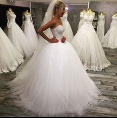 http://www.weddibox.eu/ Brautkleid-Prinzessin-Tüll-Wedding