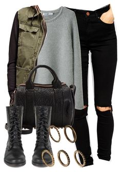 """""""Style #6683"""" by vany-alvarado ❤ liked on Polyvore featuring ASOS, Steven Alan, Free People, Alexander Wang, Steve Madden and MANGO"""
