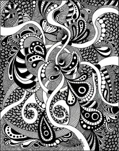 Zentangle  WOW....is that what you call my forever doodles?