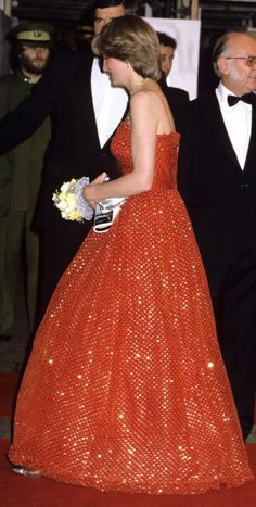 Lady Diana Francis Spencer in June 1981 at the Premier of the James Bond Film- For your Eyes only in London