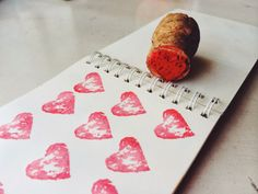 Make Your Own Cork Stamps for Valentine's Day - recycle old wine corks and champagne corks!