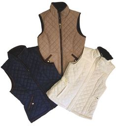 COZY AND COMFORTABLE Why chose one color, when there are three?! This comfy and affordable vest has a faux fur trim to keep you warm on those chilly island nights. Cloister Collection, 600 Sea Island Rd., Ste #13, 912.634.8084. cloistercollection.com.