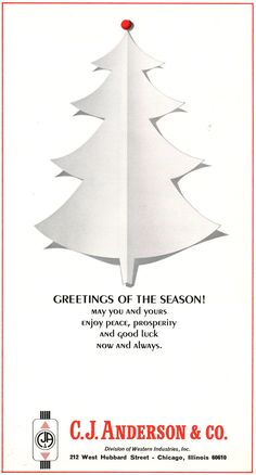 #TBT to this C.J. Anderson & Co. ad in the December 1966 issue of ELEVATOR WORLD magazine! #MerryChristmas #CJAnderson #elevatorindustry