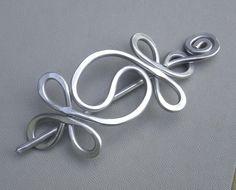 Yin Yang aluminio chal Pin Pin de pelo por nicholasandfelice