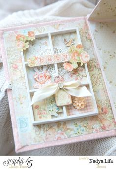 Try this beautiful baby box using Baby 2 Bride with a tutorial from Nadya Lifa #graphic45