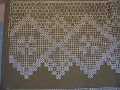 Resultado de imagem para cortinas de croche com grafico