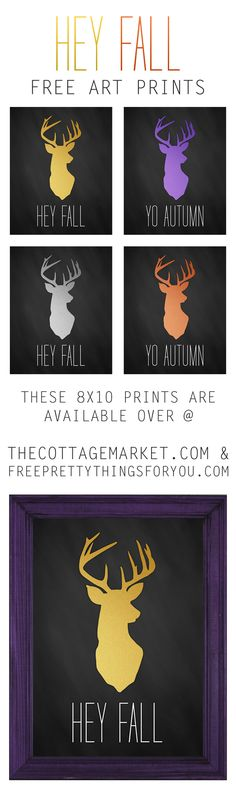 Free Printable Fall Wall Art - The Cottage Market #FallArt, #ChalkboardPrintableArt, #FreeFallArtPrintables