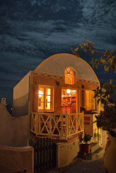 Oia, Santorini - Meteor Bar at Night by Marcus Frank, via Flickr