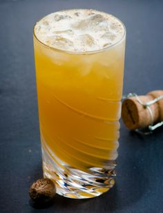 Chatham Artillery Punch: lemon shrub, bourbon/rye, Cognac, rum, champagne | Cold Glass