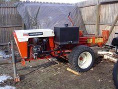 Heavy Duty Log Splitter - Lawn Tractor / Case-Ingersoll Log Splitter Attachment | Flickr - Photo Sharing!