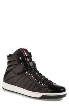 Prada 'Avenue' High Top Sneaker (Men) available at #Nordstrom