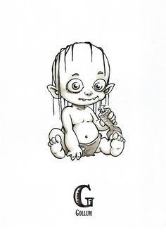 Tiny Creatures Alphabet on Behance Zombie Drawings, Alien Drawings, Dark Drawings, Halloween Drawings, Cartoon Drawings, Horror Cartoon, Horror Art, Hobbit, Laser Art