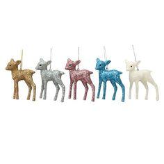 Glitter Deer Ornament Assorted : Target