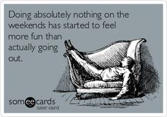 Yep!  Being all over town, all week, with work will do that to ya!
