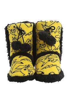 Pokemon Pikachu Knit Pom Slipper Boots | Hot Topic