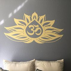 Wall Decal Lotus Flower Om Sign Symbol Vinyl Sticker Mural Yoga Zen Meditation Buddha Bohemian Eastern Art Bedroom Home Décor Pooja Rooms, Vinyl Decals, Laptop Vinyl Decal, Vinyl Decal Stickers, Mural, Vinyl Sticker, Wall, Meditation Rooms, Wall Decals