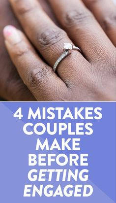 Check out this list of mistakes that couples make before getting engaged.  #wedding #engagement #engaged Wedding Advice, Wedding Vendors, Wedding Ideas, Weddings, Wedding Gifts For Groomsmen, Groomsman Gifts, Engagement Tips, Wedding Engagement, Wedding Images