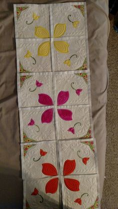 First Embroidered Quilt for Daughter