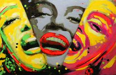 """Costin Craioveanu is a young artist born in Bucharest, Romania, in 1975. He made several gorgeous oil or acryl on canvas paintings, most of them bought by famous people from Hollywood. Painting of """"Marilyn-Monroe-x3"""""""