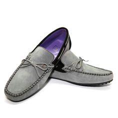 eu.Fab.com | Bow Moccasins Mens Grey Black