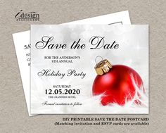 83 best Christmas And Holiday Party Save The Date images on ...