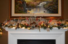 SET Tree Topper & Garland Bell Garland Mantle by TheBloomingWreath Rustic Mantle, Fall Mantle Decor, Fall Garland, Light Garland, Rustic Tree Topper, Fireplace Garland, Thanksgiving Tree, Popular Tree, Christmas Decorations
