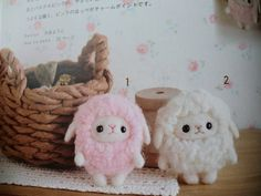 tiny wool felted sheep