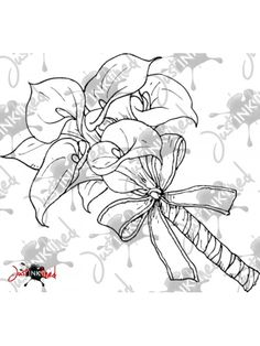 Digital Stamp Cala Lili Bouquet