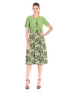 c08e5f1ec0d11 Danny   Nicole Women s Dot Print Two Piece Jacket Dress