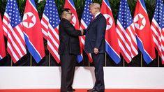 """Trump-Kim, storica stretta di mano: """"molto bene"""" l'incontro a Singapore - Tgcom24"""