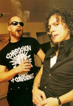 James Hetfield & Kirk Hammett of Metallica