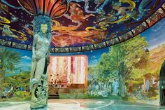 In 1978, Oberto Airaudi began work on a secret temple in the foothills of the Italian Alps. Artists worked for 15 years in 4-hour shifts, excavating 300,000 cubic feet of rock and hid the construction noise by pretending to throw parties. When police visited in 1992, Airaudi had created an underground complex of 7 halls dedicated to peaceful human collaboration and filled with murals, ornate columns and stained glass. Finally, the Italian Government granted him retroactive permits for his…