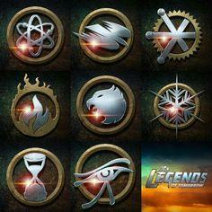 DC's Legends of Tomorrow logos
