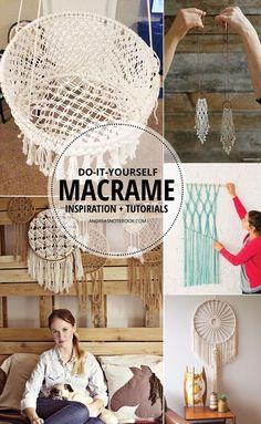 GORGEOUS DIY macrame tutorials                                                                                                                                                     More
