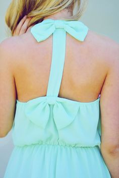 Tea For Two Bow Dress: Mint | Hope's