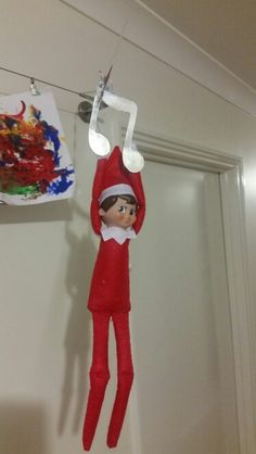 Zip lining on a decoration from the tree.  Christmas 2015