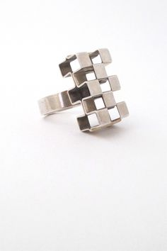Kupittaan Kulta large 'open cubes' ring #Finland #ring